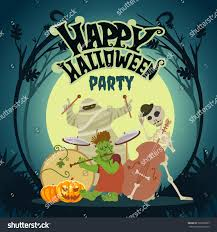 cartoon halloween images cute cartoon halloween music band playing stock vector 322630685