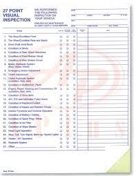 vehicle inspection checklist template hitecauto us