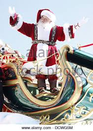 santa claus macy s thanksgiving day parade stock photo royalty
