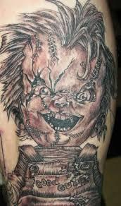 horror chucky tattoo design tattoos book 65 000 tattoos designs