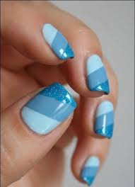 blue and yellow nail art tutorial instaglam