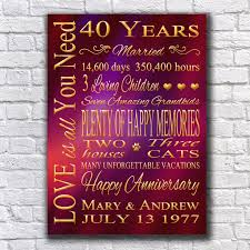 40 year anniversary gift 21 best wedding anniversary gift images on