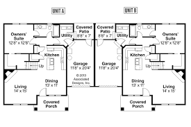 single story duplex floor plans craftsman house plans donovan associated designs vintage single