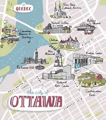 Map Of Ottawa Harry Rosen Ottawa Map Laura Barnard Map Illustrator