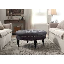 Ottoman With Shelf Coffee Table Oversized Ottoman Leather Upholstered Coffee Table