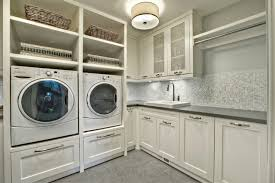White Cabinets For Laundry Room Fascinating Laundry Room Cabinets Ideas In Modern Appliances