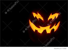 photograph of scary pumpkin