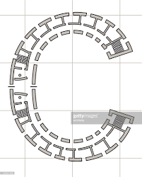 architectural plan of letter c vector art getty images