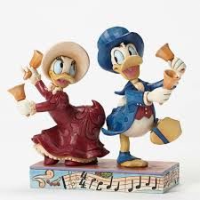 jim shore disney victorian donald and daisy duck chiming in