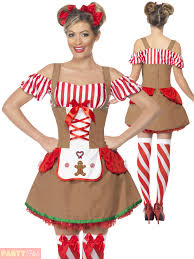 ladies gingerbread costume adults christmas fancy dress womans