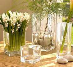 glass vases floral arrangement decoration beautiful white