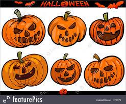 halloween cartoon clip art halloween cartoon themes set illustration