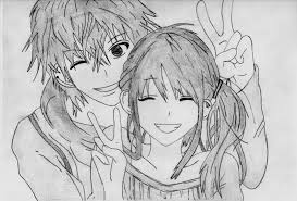 photos sketch anime images couples drawing art gallery