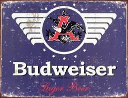 bud light tin signs new budweiser 1936 logo tin sign beer vintage looking label bud