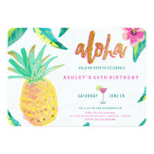 25th birthday invitations u0026 announcements zazzle