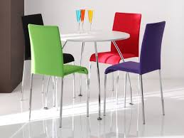 White Dining Table And Coloured Chairs Coloured Kitchen Chairs Ohio Trm Furniture