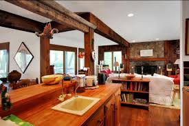 rustic open floor plans robert redford s former rustic retreat listed for 1 3 million