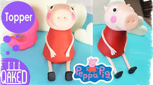 how to make a peppa pig fondant topper cake topper tutorial