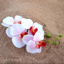 flower hair accessories orchid pink white hawaiian flower hair clip lavahut