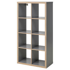 narrow cube bookcase kallax shelf unit white ikea