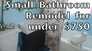Small Bathroom Remodeling by Small Bathroom Remodel Under 750 How To Do It Yourself Youtube