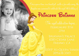 Princess Themed Birthday Invitation Cards Disney Princess Belle Birthday Invitation By Darlingdesignsbysara