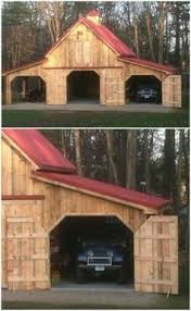 Garages That Look Like Barns Step By Step Pictures Of Me Building A 24x24 Garage If You U0027re