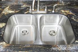 Doublebowl Undermount Stainless Steel Kitchen Sink Installed - Double bowl undermount kitchen sinks