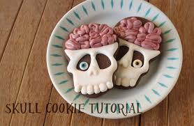 brainy skull cookies tutorial klickitat street