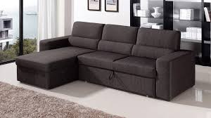 Sectional Pull Out Sofa Black Brown Clubber Sleeper Sectional Sofa Zuri Furniture