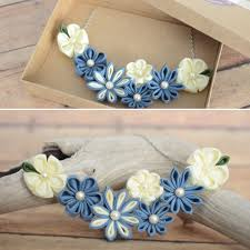 this flower statement necklace is perfect for spring each