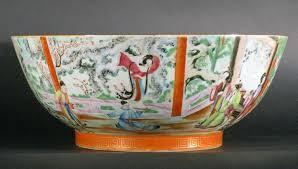 canton porcelain export canton porcelain punch bowl dated 1821 at 1stdibs