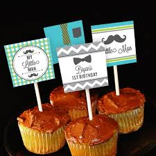 Little Man 1st Birthday Decorations My Little Man U0027 Customized Personalized Handmade Cupcake Toppers
