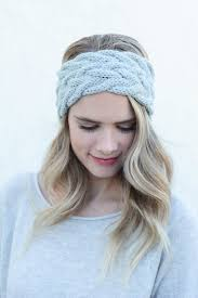 knitted headband braided cable knit headband