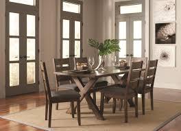 Trestle Style Dining Table Coaster Alston Rustic Trestle Dining Table Coaster Fine Furniture