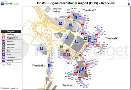 Boston Maps by Boston Logan Airport Map Map Of Boston Airport United States Of