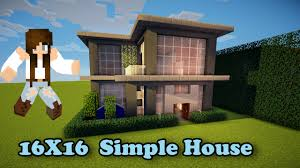Simpel House by Minecraft Simple House 16x16 How To Build Youtube