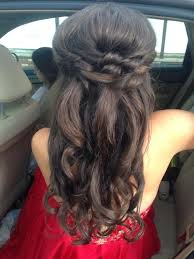 pretty texture twist half updo wedding prom and special