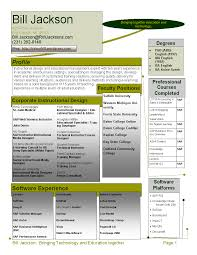Make A Job Resume by Instructional Design Resume Berathen Com