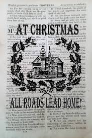 Faith Home Decor by Antique Bible Page Print At Christmas All Roads Lead Home Faith