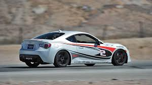 subaru frs white driving toyota u0027s pro celebrity scion fr s race cars autoweek
