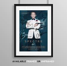 Spectre Film by Spectre Cast Signed Autograph Print Poster Photo Movie Film James