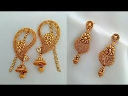 gold ear rings images fancy designer gold earrings fashion jewellery stylish