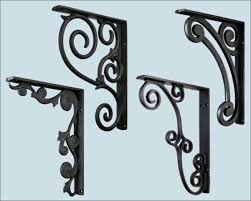 furniture white decorative shelf brackets rustic wood shelf