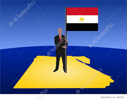 Image Of Flag Of Egypt Man With Flag Of Egypt Stock Illustration I1625118 At Featurepics