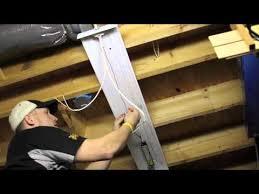 4 Foot Fluorescent Shop Light Fixture by Installing Overhead T8 Light Fixtures Youtube