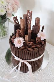 chocolate bouquet u0027 cake mudcake decorated with wafers and lots of