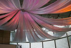 Hang Curtain From Ceiling Decorating Decorating The Ceiling With Fabric