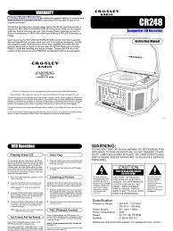 crosley songwriter cr248 user manual www jfretro com ac power