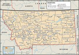 Virginia Map With Cities State And County Maps Of Montana